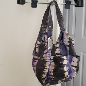 B. Makowsky Tye Dye Suede Hobo Bag